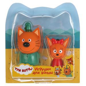 Набор из 2-х игрушек для ванны Капитошка Три Кота, Карамелька+Компот, блист. в кор.2*12наб