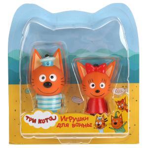 Набор из 2-х игрушек для ванны Капитошка Три Кота, Карамелька+Коржик, блист. в кор.2*12наб