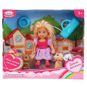 Кукла Машенька 12см, в комплекте четыре питомца, сумочка, аксессуары в кор. Карапуз в кор.2*72шт