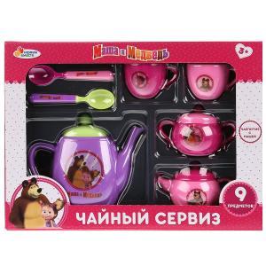 """Набор посуды Маша и Медведь чайный сервиз ТМ """"Играем вместе"""", 7 предметов, пластик в кор. в кор.48шт"""