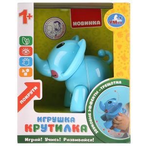 Развивающая крутилка слон, синий цвет в русс. кор. Умка в кор. 2*90шт