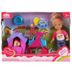Кукла Машенька 12см, в комплекте питомцы в будке и коляске, аксессуары в кор. Карапуз в кор.2*48шт