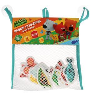 Игрушка для ванны Капитошка Мимимишки набор стикеров ЕВА 12 шт., сумочка сетка в кор.50шт