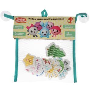 Игрушка для ванны Капитошка Малышарики набор стикеров ЕВА 12 шт., сумочка сетка в кор.50шт