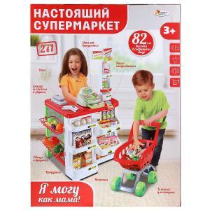 """Супермаркет на бат., свет+звук, высота 82см,  с аксессуар. в русс. кор. тм """"играем вместе"""" в кор.6шт"""