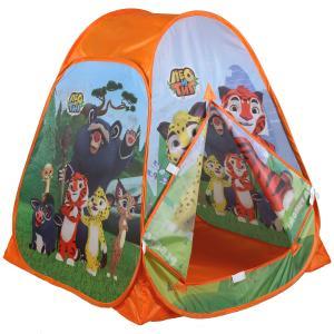 Палатка детская игровая ЛЕО и ТИГ 81х90х81см, в сумке Играем вместе в кор.24шт