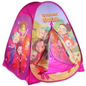Палатка детская игровая Сказочный патруль 81х90х81см, в сумке Играем вместе в кор.24шт