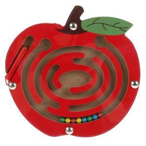 """Игрушка дер. """"Буратино"""" игра-лабиринт магнит. Фрукты-ягоды, 15 см. в ассорт., термопл. в кор.12*12шт"""