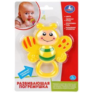 Развивающая игрушка погремушка пчелка Умка на карт. (русс. уп.) в кор.2*24шт