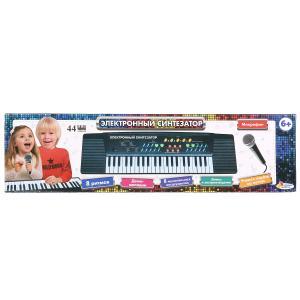 """Электронный синтезатор ТМ """"Играем вместе"""" на бат. со светом, 44 клавиши, микрофон в кор в кор.2*18шт"""