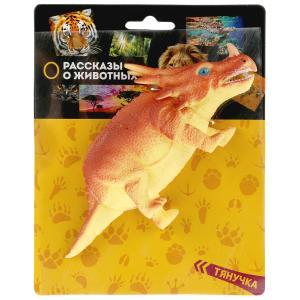 Игрушка пластизоль тянучка Играем Вместе динозавр Стиракозавр 17*6*6см на карт. в кор.2*72шт
