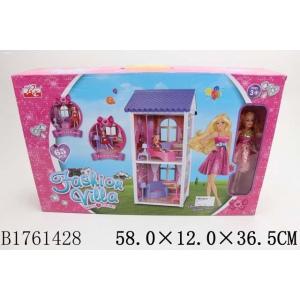 Дом для кукол, с куклой и аксесс. 970 в кор. в кор.8шт