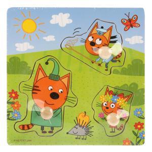 "Игрушка дер. ""Буратино"" ""Три кота"", вкладыши Веселая прогулка, 15х15см, термопленка в кор.200шт"