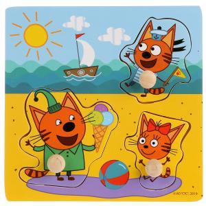 """Игрушка дер. """"Буратино"""" """"Три кота"""", вкладыши Летние каникулы, 15х15см, термопленка в кор.200шт"""