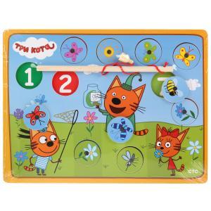 "Игрушка дер. ""Буратино"" ""Три кота"", рыбалка Ловим бабочек, термопленка в кор.100шт"