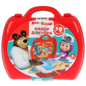 """Набор доктора Маша и Медведь, 19 предметов в чемодане, в пак. ТМ """"Играем вместе"""" в кор.2*18шт"""