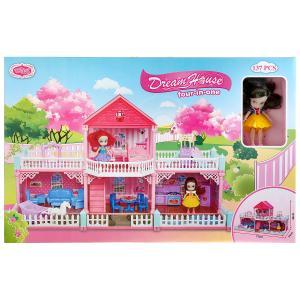 Дом для кукол, с фигуркой и мебелью VC6014 в кор. в кор.6шт