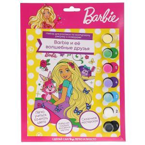 Набор д/детского тв-ва MultiArt Роспись по номерам, холст на картоне (17х23см) Barbie в кор.2*24шт