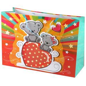 Играем Вместе. Мишки. Пакет подарочный, 46х61х20см, бумажный, глянцевый в пак. уп-12шт в кор.6уп