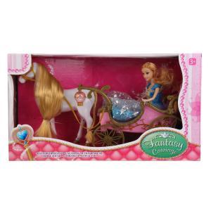 Карета для кукол, на бат. свет+звук, с куклой и лошадью 252A в кор. в кор.12шт