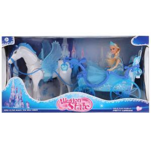 Карета для кукол, свет+звук, с куклой и лошадью 227A в кор. в кор.6шт
