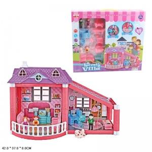 Дом для кукол, с мебелью и фигурками 975 в кор. в кор.18шт
