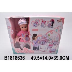 Мебель для кукол 6в1+ кукла LD69003E в кор. в кор.2*6шт
