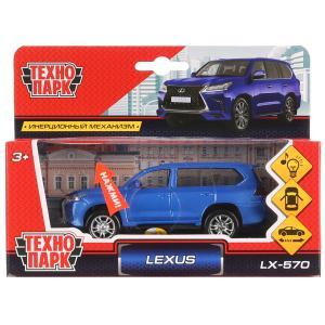 """Машина металл свет-звук """"LEXUS LX-570""""12см, открыв. двери, инерц,синий в кор. Технопарк в кор.2*36шт"""