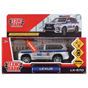 "Машина металл свет-звук ""LEXUS LX-570 ПОЛИЦИЯ""12см, откр. двери, инерц.в кор. Технопарк в кор.2*36шт"