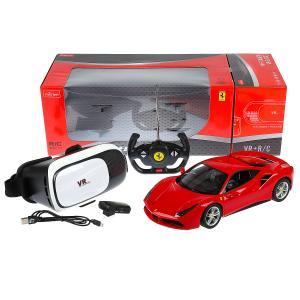 Машина р/у ferrari 488 gtb 1:14 с камерой и очками виртуальной реальности в кор. Rastar в кор.4шт