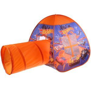 Палатка детская игровая ХОТ ВИЛС с тоннелем, 81x95x95,46x100см, в сумке Играем вместе в кор.10шт