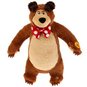 Игрушка мягкая Маша и Медведь мишка 28см, муз. чип, в пак. Мульти-пульти в кор.24шт