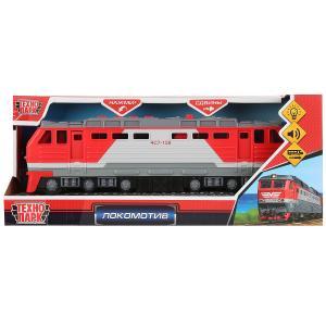 Машина свет+звук локомотив, 30см, пластик, 4 кнопки, красный в кор.Технопарк в кор.24шт