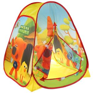 Палатка детская игровая МИМИМИШКИ 81х90х81см, в сумке Играем вместе в кор.12шт