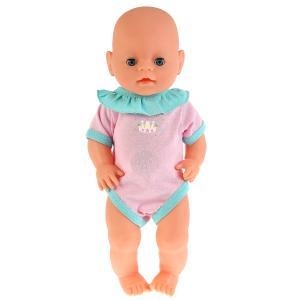 """Одежда для кукол 40-42 см, боди """"корона"""" в пак. """"Карапуз"""" в кор.100шт"""