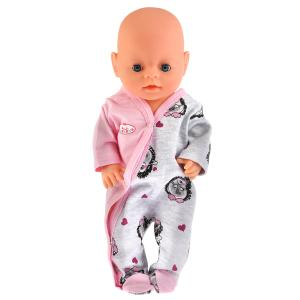 """Одежда для кукол 40-42 см, комбинезон """"ежики"""" в пак. """"Карапуз"""" в кор.100шт"""