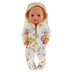 """Одежда для кукол 40-42см, комбинезон с капюшоном """"зайчата"""" в пак. """"Карапуз"""" в кор.100шт"""