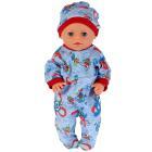 """Одежда для кукол 40-42 см, комбинезон с шапкой """"кошки-мышки"""" Карапуз в пак. в кор.100шт"""