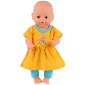 """Одежда для кукол 40-42 см, костюм """"капкейки"""" Карапуз в пак. в кор.100шт"""