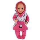"""Одежда для кукол 40-42 см, костюм """"панда"""" Карапуз в пак. в кор.100шт"""