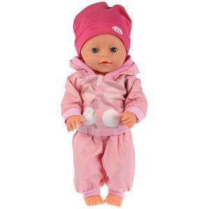 """Одежда для кукол 40-42 см, костюм с шапкой """"горох"""" Карапуз в пак. в кор.100шт"""