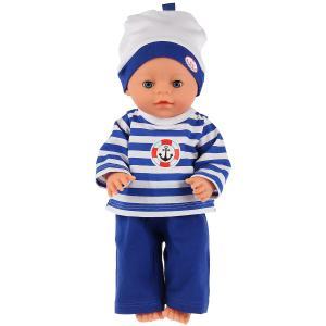 """Одежда для кукол 40-42 см, костюм с шапкой """"моряк"""" Карапуз в пак. в кор.100шт"""