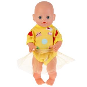 "Одежда для кукол 40-42 см, костюм с юбкой ""котята"" Карапуз в пак. в кор.100шт"