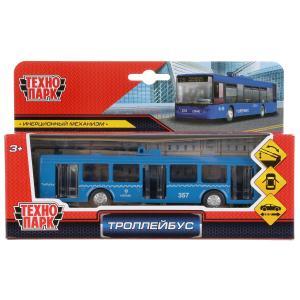 Машина металл Троллейбус 16,5см, инерц., открыв. двери, подвиж. элем. в кор. Технопарк в кор.2*24шт