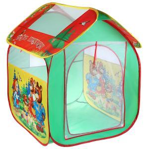 """Палатка детская игровая """"три медведя"""", 83х80х105см в сумке """"Играем вместе"""" в кор.12шт"""