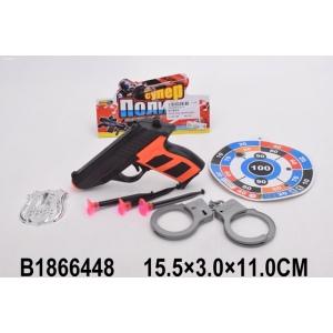Набор полиция (пистолет, присоски, наручники, аксесс.) 224-9 в пак. в кор.2*240шт