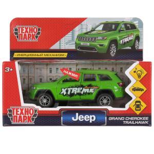 "Машина металл свет-звук ""jeep grand cherokee спорт"" 12см, инерц., зеленый. Технопарк в кор.2*36шт"
