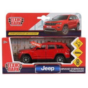 "Машина металл свет-звук ""jeep grand cherokee"" 12см, инерц., красный в кор. Технопарк в кор.2*36шт"