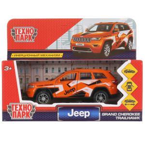 "Машина металл ""jeep grand cherokee спорт"" 12см, инерц., оранжевый в кор. Технопарк в кор.2*36шт"