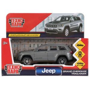 "Машина металл ""jeep grand cherokee"" 12см, открыв. двери, инерц., серый в кор. Технопарк в кор.2*36шт"